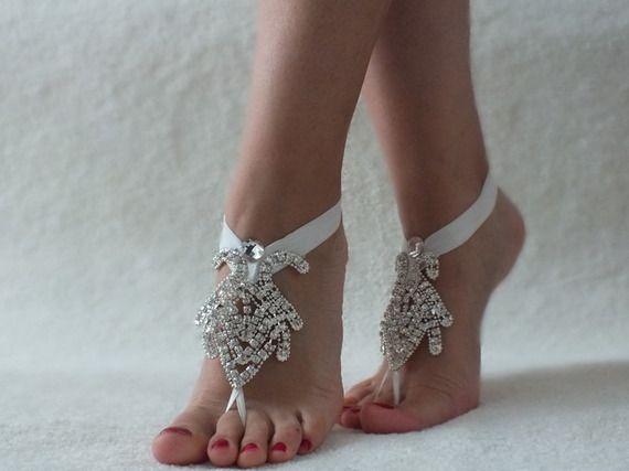 champagne perles mariage de plage sandales aux pieds nus photos et mariage. Black Bedroom Furniture Sets. Home Design Ideas