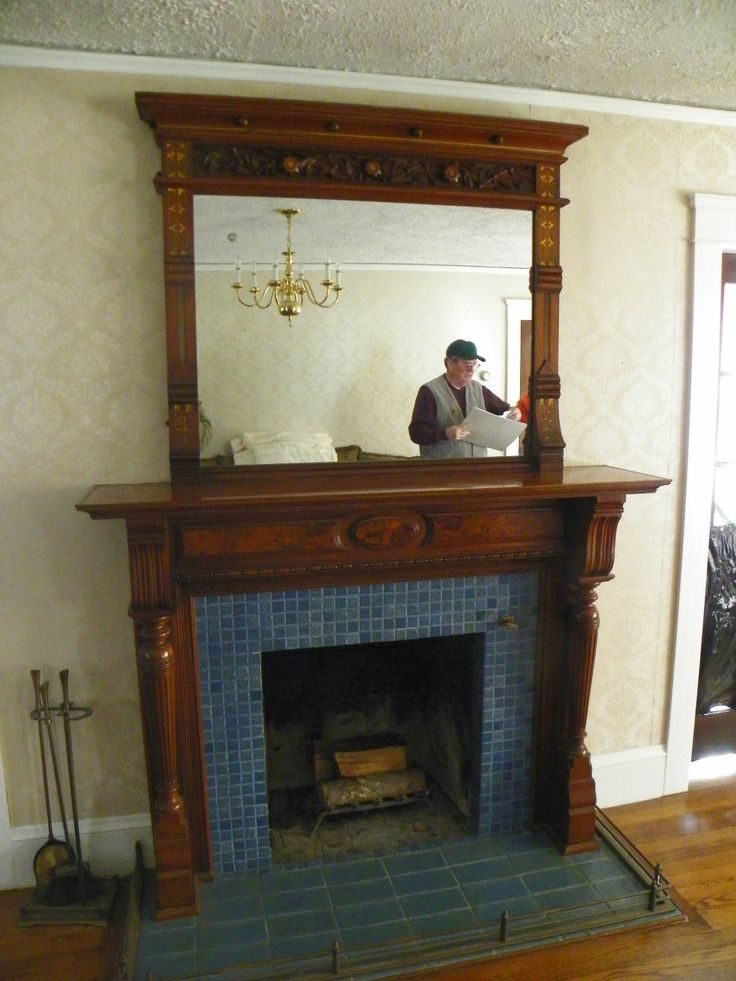 Vintage Wood Antique Mantel Mirror Fireplace Circa 1930 Local Pick Up Only Ebay Mantel