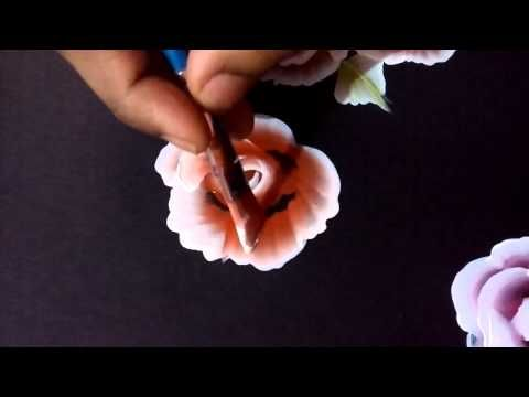 Rose painting another way - YouTube