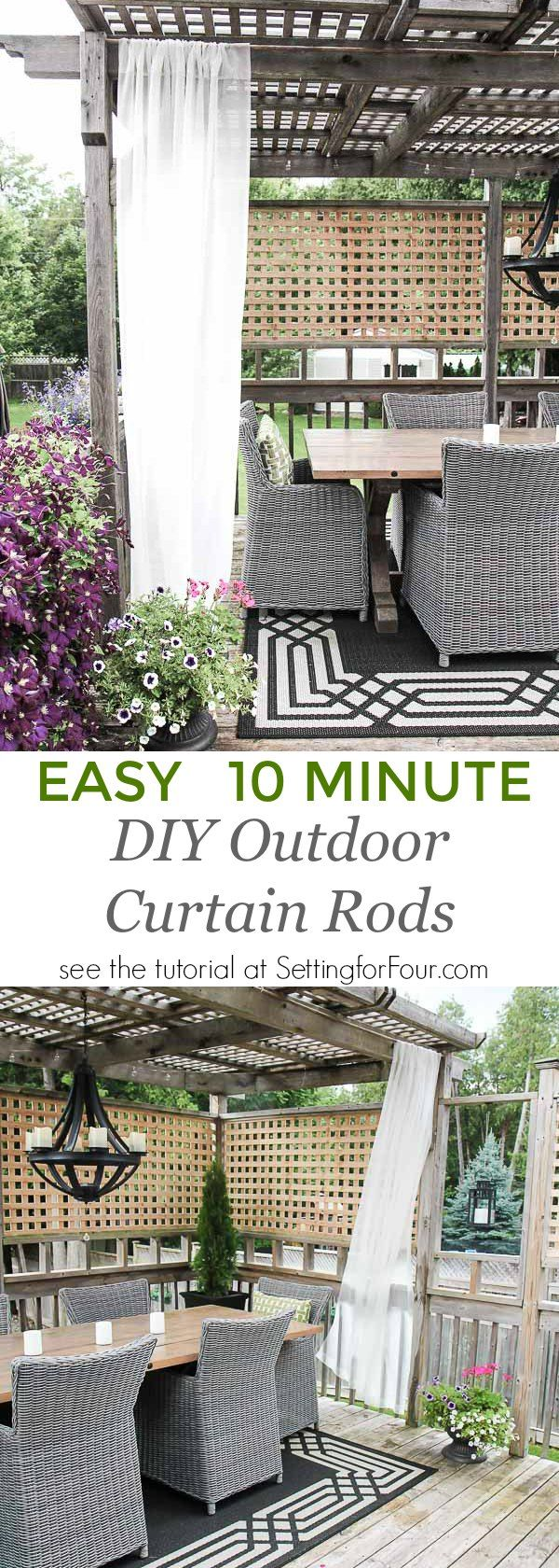 Diy outdoor curtain rods - Easy Diy Outdoor Curtain Rods In 10 Minutes