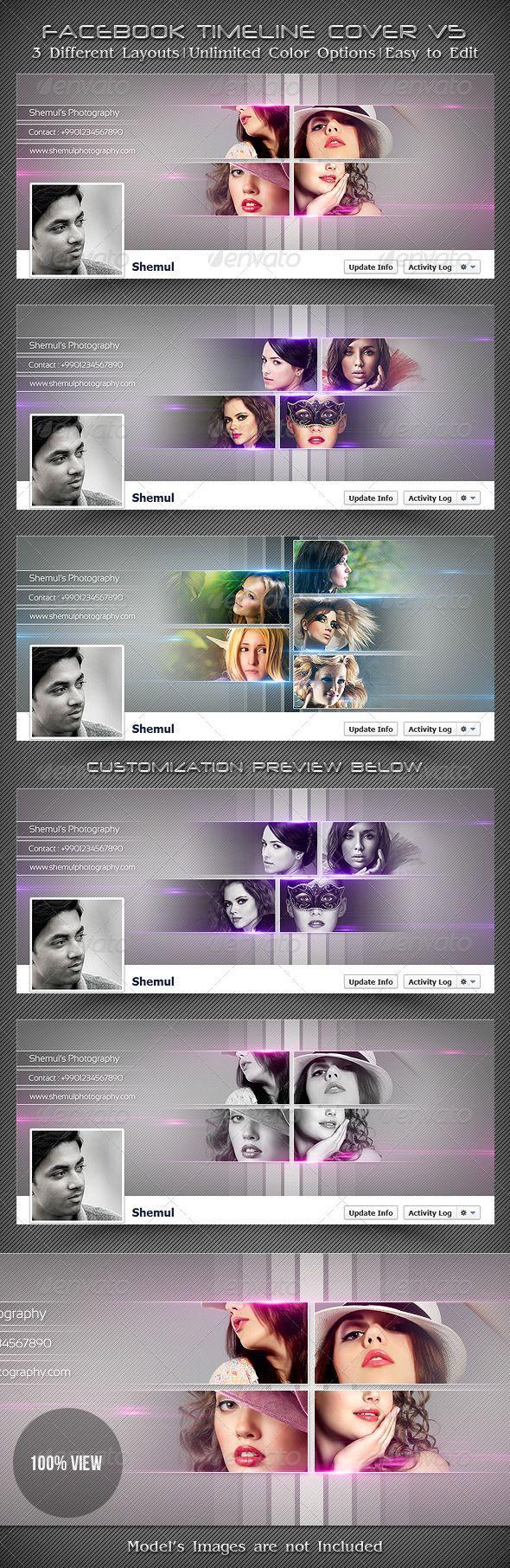 Photographer's FB Timeline Cover V5 - Facebook Timeline Covers Social Media