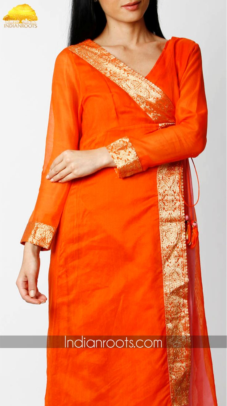 Plush chanderi tunic by Neetu Gupta on Indianroots.com