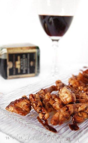 Ricetta Straccetti di pollo all�aceto balsamico