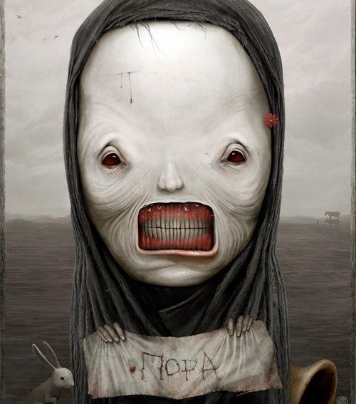 Anton Semenov: Disturbing and frightening illustrations but interesting