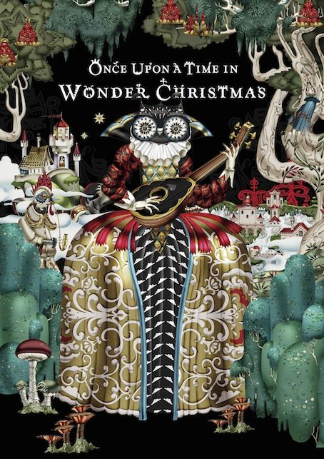 """""""Wonder Eden"""" illustration. Klaus Haapaniemi has worked with Sato Yanai at Nippon Design Center to create the Christmas campaign for Japanese department store Isetan,"""