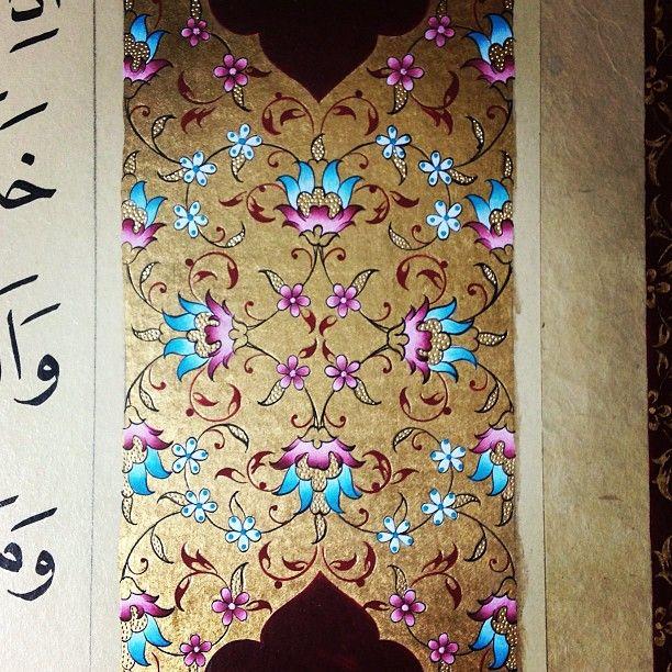 #art #artwork #mywork #illumination #gold #color #design #islamicart #handmade #love #istanbul #turkey