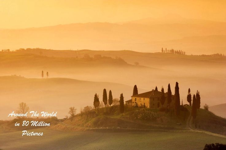Tuscany, Italy, Belvedere Farmhouse Orcia Valley