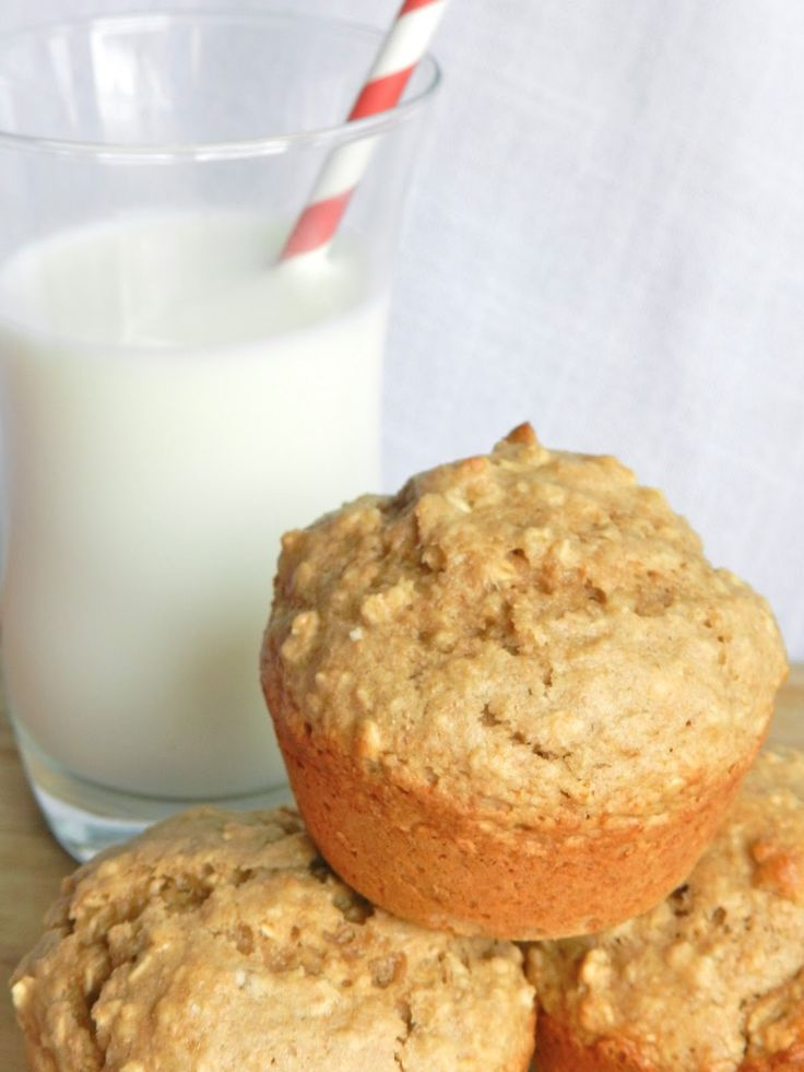 Healthy Morning Option: Whole Wheat Oatmeal Muffins  (perfect base to add chocolate chips, berries, or nuts to) #muffins