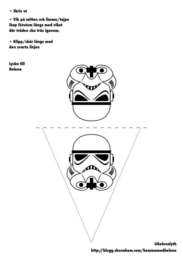 Star Wars-flaggspel att skriva ut. Lycka till!