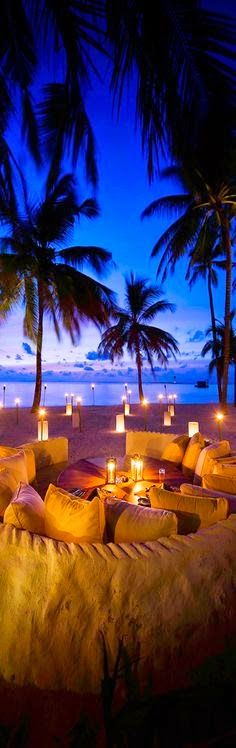 Candles at night on a beach :)