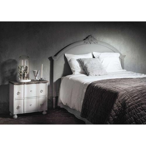 25 beste idee n over wit hoofdeinde op pinterest witte slaapkamer inrichting bonten kleed en - Hoofdbord wit hout ...