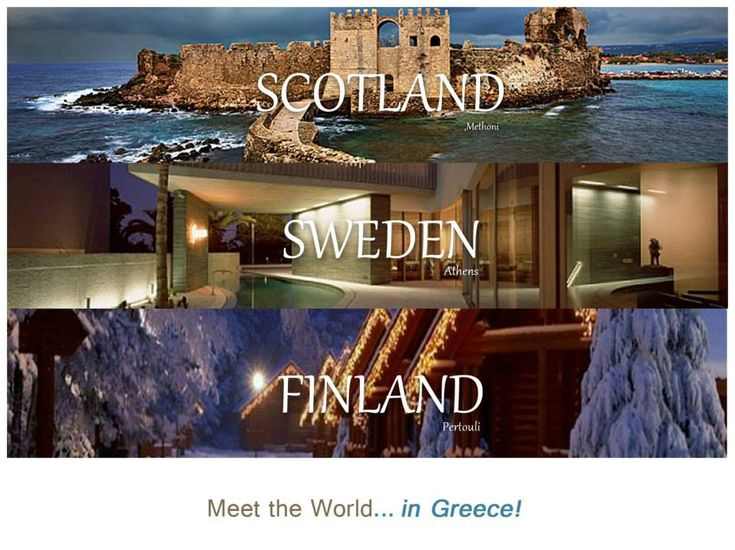 Scotland -Methoni, Sweden-Athens, Finland-Pertouli. Meet the World in Greece campaign by Ares Kalogeropoulos.