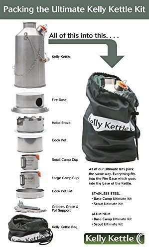 Kelly Kettle Ultimate Aluminum Scout Camp Stove Kit - http://emergencysurvival.supply/?product=kelly-kettle-ultimate-aluminum-scout-camp-stove-kit