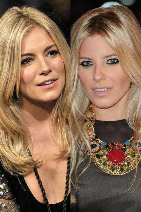 Total celeb look alikes Sienna Miller and Mollie King