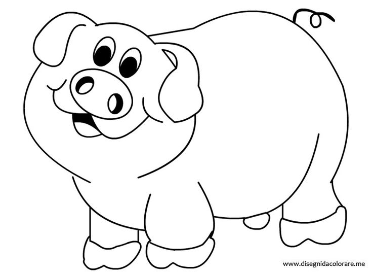 pig coloring pages for preschoolers - photo#16