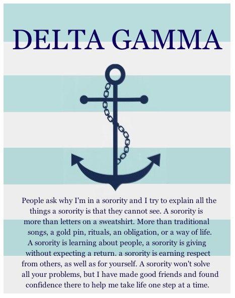 delta gamma ⚓ - good words for all sororities