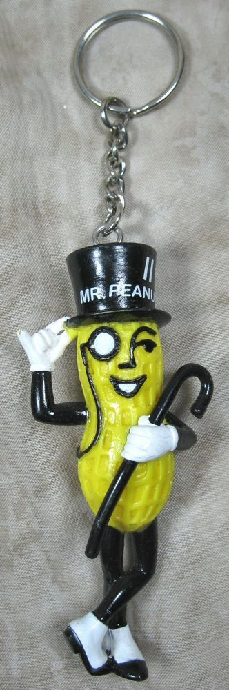 Advertising Collectible Planters Peanuts Mr Peanut Key Ring Key Chain #NabiscoBrand