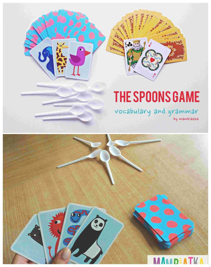 The spoons game! Perfect to practice vocabulary and grammar with kids, teenagers and adults!  Fun and emotions guaranteed!