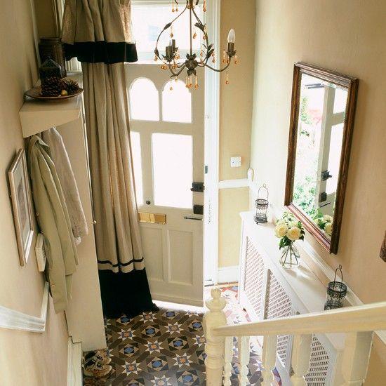 Hallway  Get a radiator like  This reinstateMinton floor door curtain?