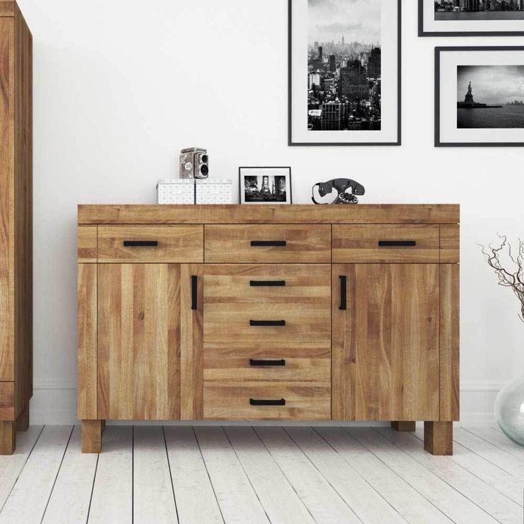 Vintage Wohnzimmer Sideboard aus Wildeiche Massivholz modern Jetzt bestellen unter