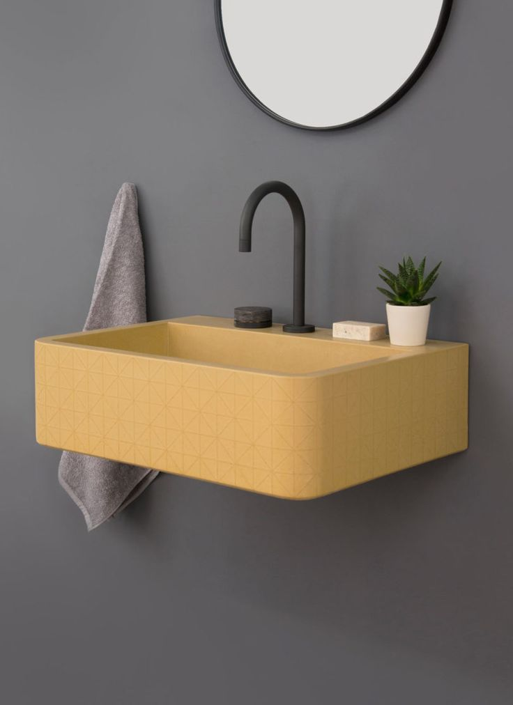 British brand Kast Concrete Basins has unveiled a new series of patterned sink basins called Kast Canvas. The collection includes three designs that explore the possibilities of what concrete can offer with elegant surface patterns. The subtle, textural designs are an unexpected detail on the minimalist basin forms that take a step away from traditional bathroom offerings.