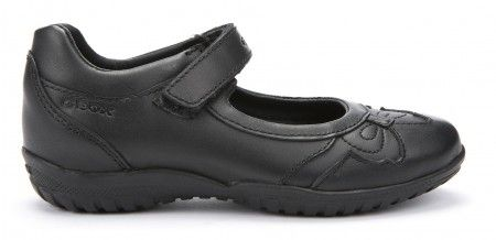 Geox Shadow Black Girls School Shoes