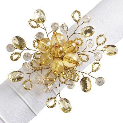 Gold Beaded Napkin Ring | Pier1 - $3.95