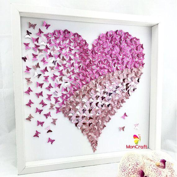 Papier-Schmetterling Schmetterling 3d wall von MoncraftWallArt
