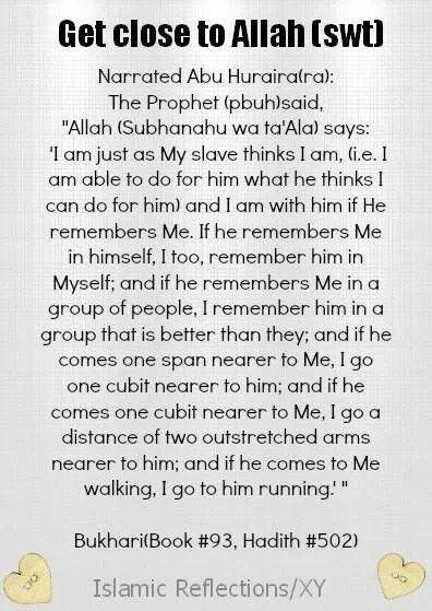 Get close to Allah