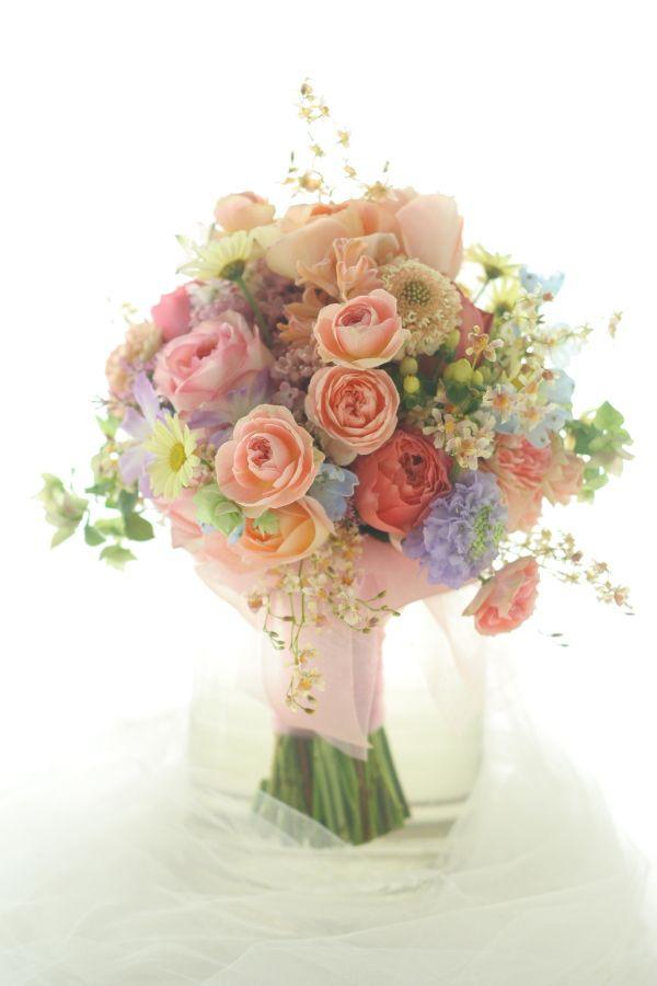 クラッチブーケ 春爛漫 アニヴェルセル東京ベイ様への画像:一会 ウエディングの花