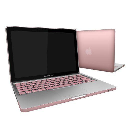 "MacBook-Pro-13, SlickBlue Metallic Matte Hard Snap-On Case Cover for Apple MacBook Pro 13"" with Keyboard Skin Fits Model A1278 - Rose Gold"