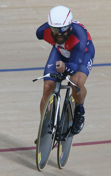 Joseph Nicholas of the United States competes in the Men's 3km Pursuit C3 Final on day 2 of the Rio 2016 Paralympics at Rio Olympic Velodrome on September 9, 2016 in Rio de Janeiro, Brazil.