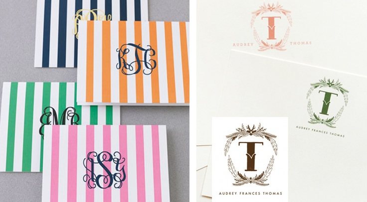preppy stripe monogram, and letter by rifle paper co