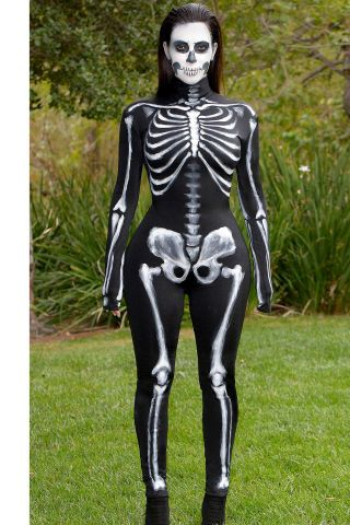 44 best celebrity costume ideas to inspire your fall 2015 Halloween costume: Kim Kardashian as a skeleton