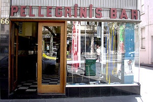Pellegrini's Espresso Bar in Bourke Street, Melbourne. Established in (and largely unchanged since) the 1950s