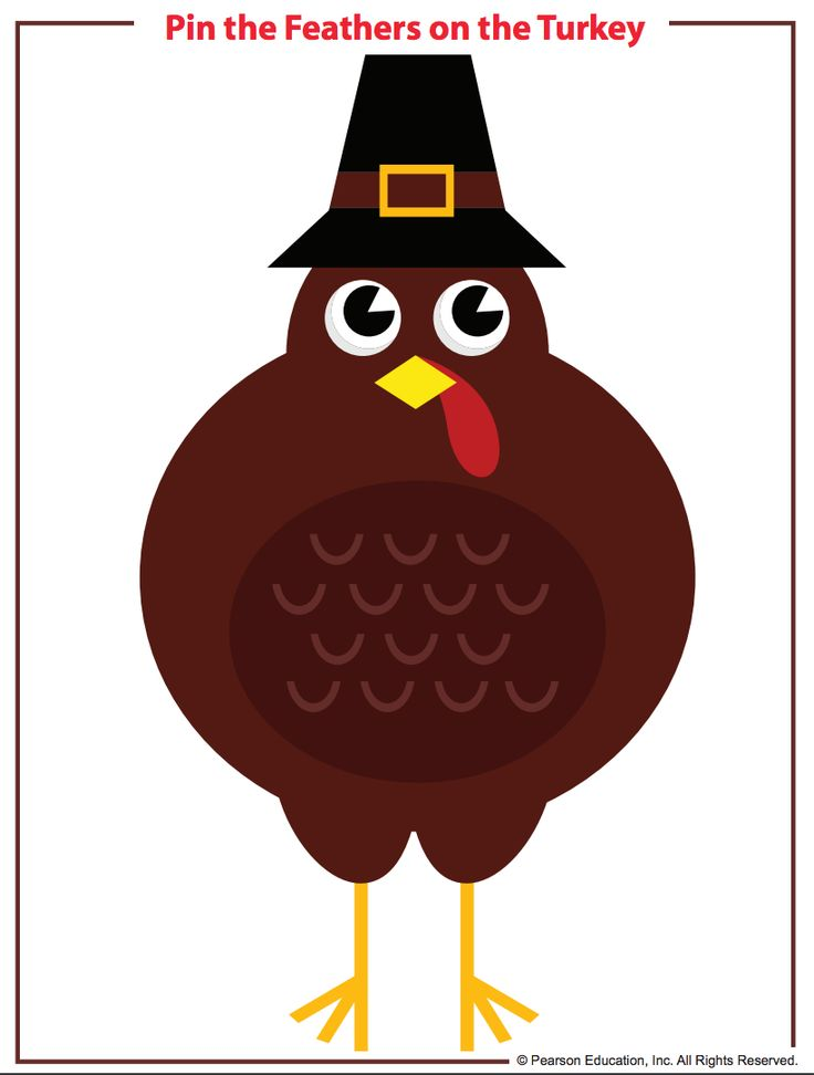 "Have a little Thanksgiving fun with this ""Pin the Feathers on the Turkey"" classroom game!"