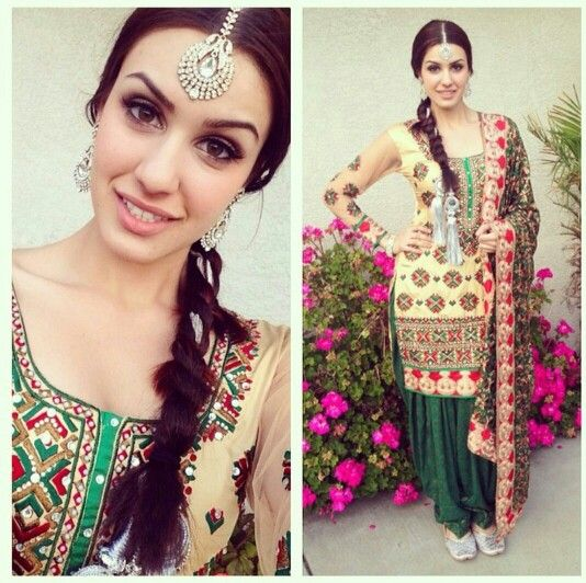 Punjabi Suit for mehendi event.