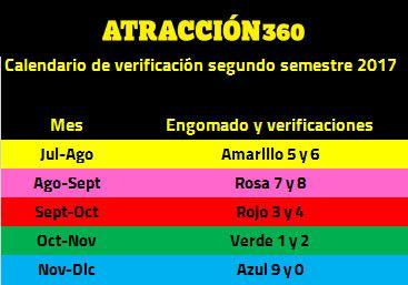Calendario de verificación vehicular segundo semestre 2017   Atraccion360