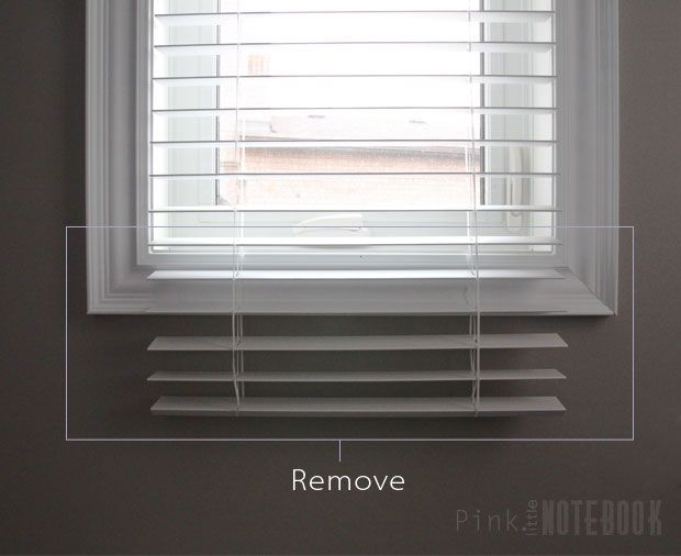 Removing slates from faux wood blinds
