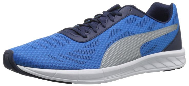 PUMA Men's Meteor Running Shoe, Electric Blue Lemonade, 8.5 M US. Cross-trainer in breathable mesh with minimal overlays. Lightweight.