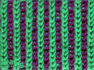 Two-color Brioche Stitch | Knitting Stitch Patterns  med video