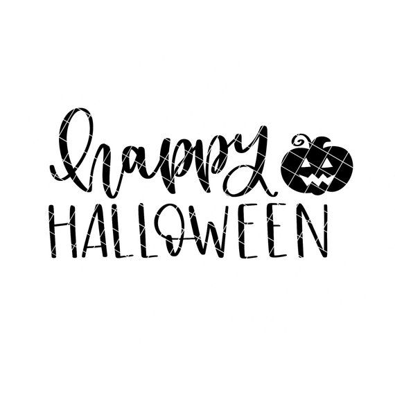 Happy Halloween Svg Halloween Svg Hand Lettered Svg Etsy In 2020 Halloween Calligraphy Hand Lettering Hand Lettered Svg Happy Halloween Font