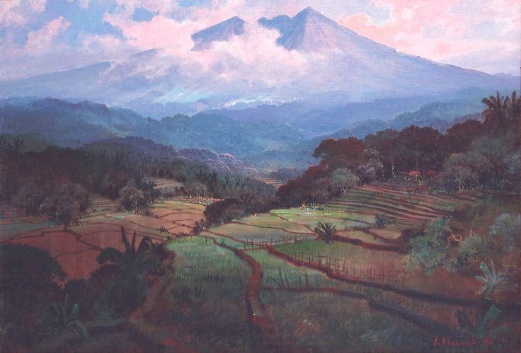Sudjono Abdullah - Pemandangan Gunung