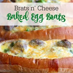 Make these delicious bratwurst sausage egg boats for National Bratwurst Day ( Bratsgiving Day ) - get the recipe details here...