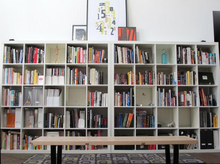 library from living room shelves 2 5x5 expedit bookshelves ikea bedroom pinterest. Black Bedroom Furniture Sets. Home Design Ideas