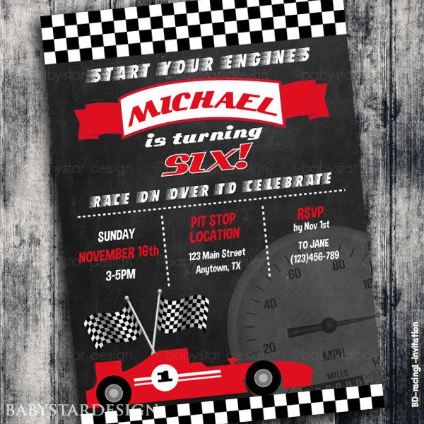 Race Car #Invitation, #Racing #Invitation, Boy #Racing Car Birthday Party #Invite, ,  View more on the LINK: 	http://www.zeppy.io/product/gb/3/252242786/