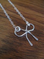 Jessa - sterling silver bow necklace | Jen Ellis Designs