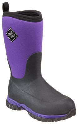 The Original Muck Boot Company Rugged II Winter Boots for Kids - Black/Purple - 3 M