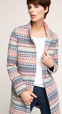 Esprit / Multi-colour coat in a cotton blend