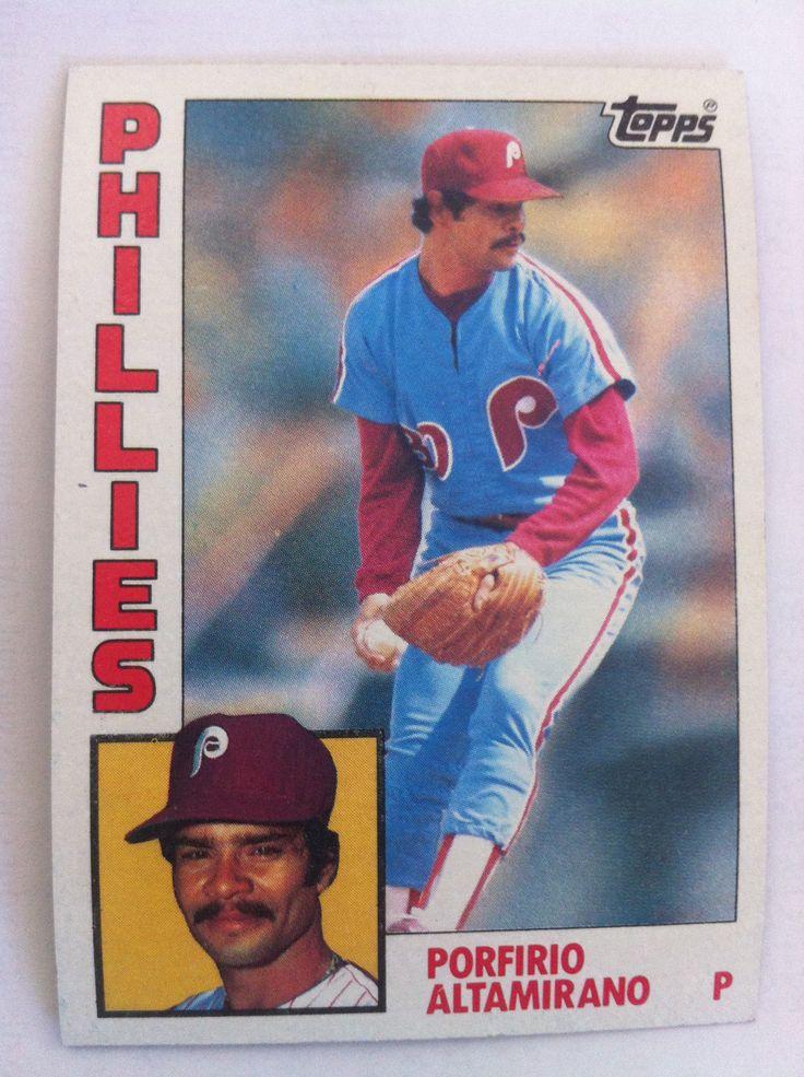 Porfirio Altamirano Old baseball cards